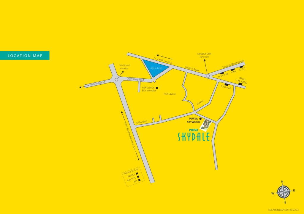 Purva Skydale Location Map