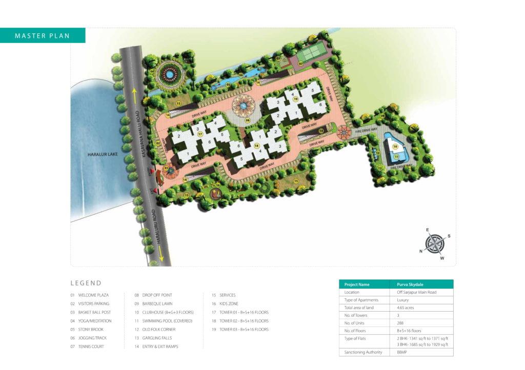 Purva Skydale Site Plan