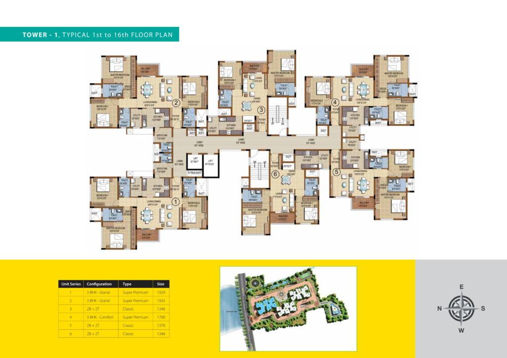 purva skydale Floor Plan 4
