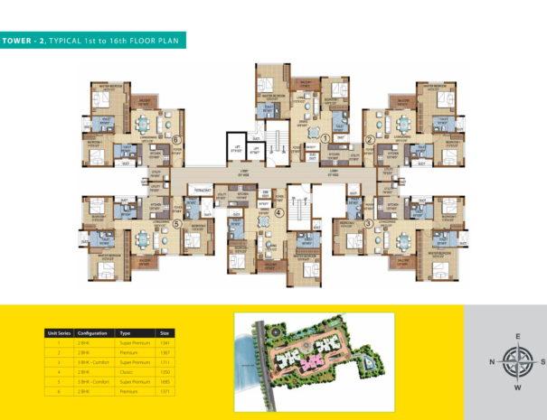 purva skydale Floor Plan 3