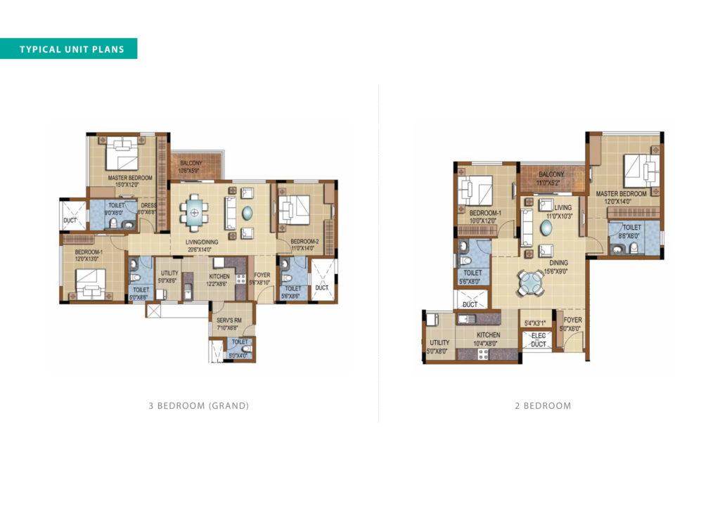 purva skydale Floor Plan 1